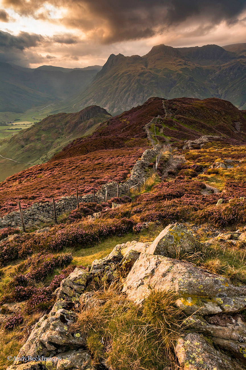 Lingmoor Light, Lingmoor Fell and the Langdale Pikes