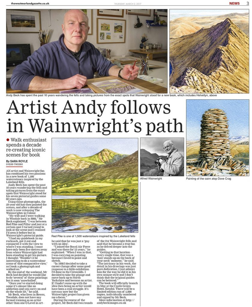 Westmorland gazette Andy Beck