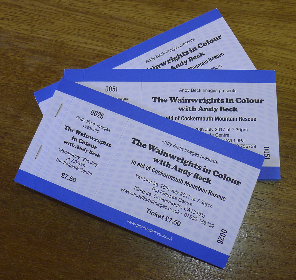 Wainwrights in Colour talk Cockermouth MRT tickets