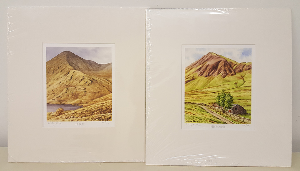 Ill Bell and Hindscarth mounted prints