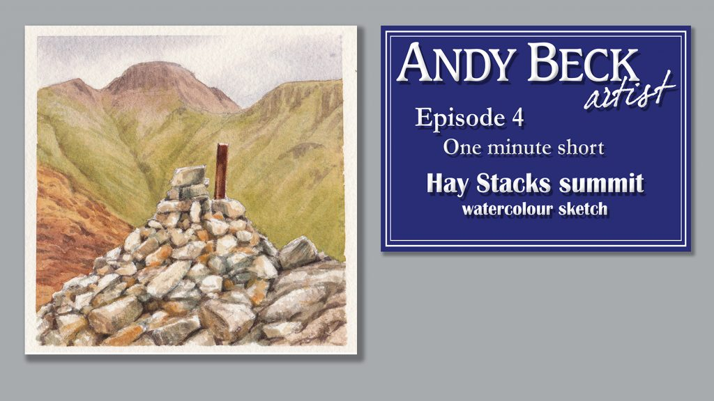 Hay Stacks summit sketch
