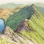 Striding Edge, Helvellyn sketch