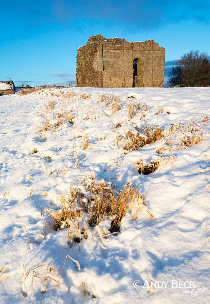 Bowes Castle winter