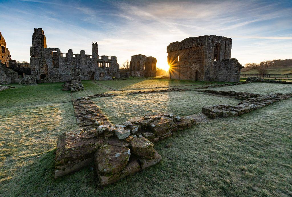 Frosty sunrise at Egglestone Abbey