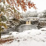 Low Force Teesdale in snow