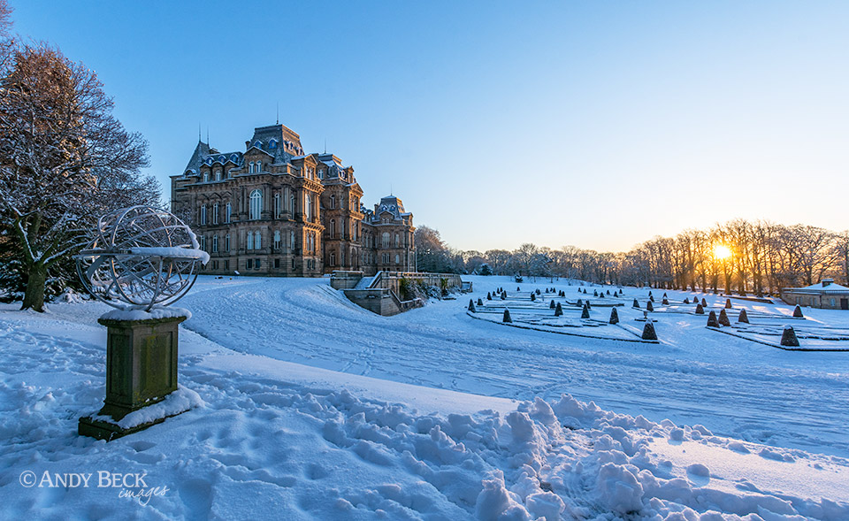 Winter sunrise at Bowes Museum