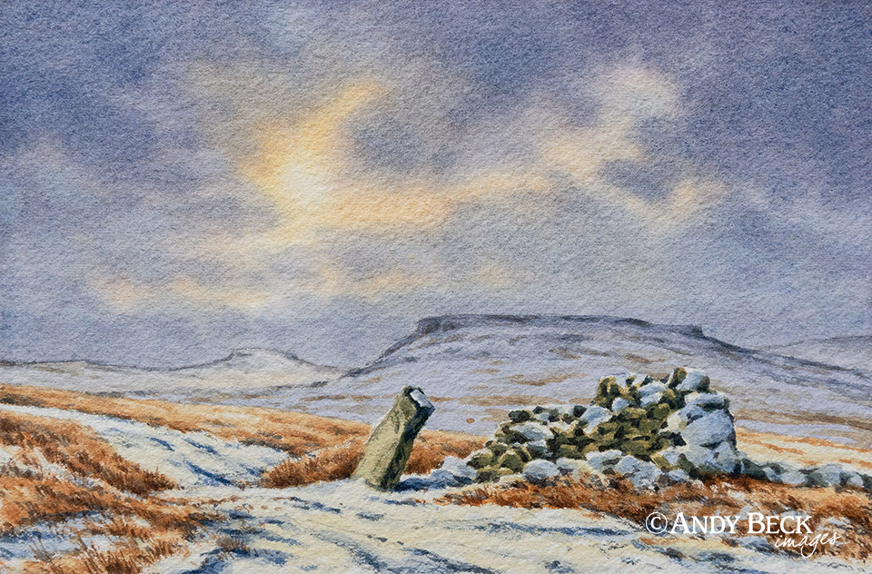 Goldsborough from Loups's Hill (Teesdale) original watercolour sketch