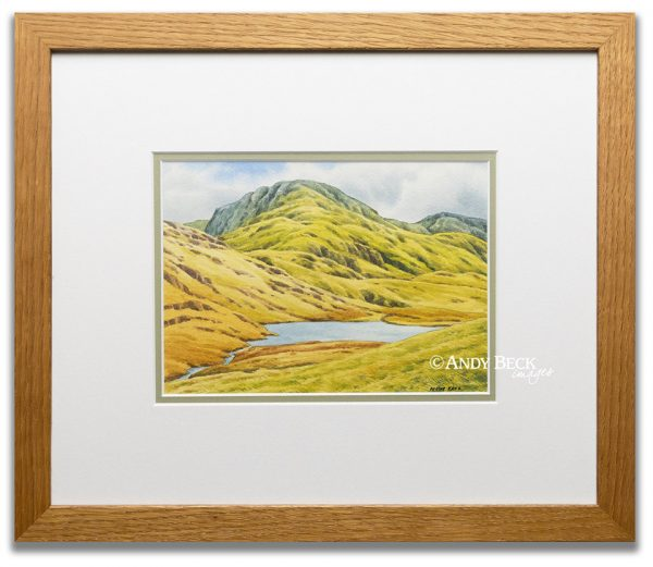 Great End and Styhead tarn sketch