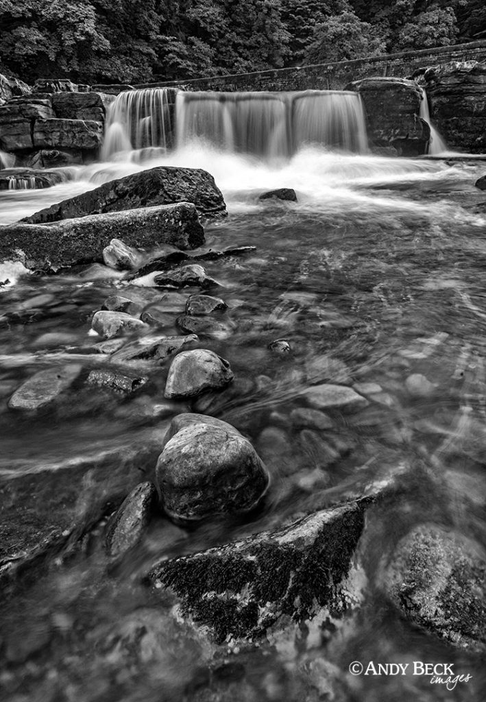Richmond Falls black and white