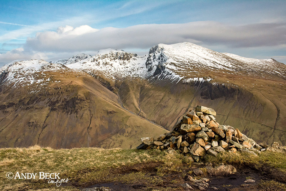 Scafells from Yewbarrow