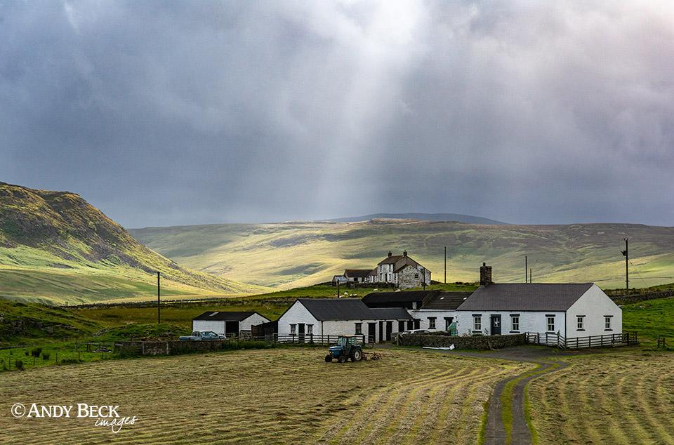 Teesdale haytime under stormy skies