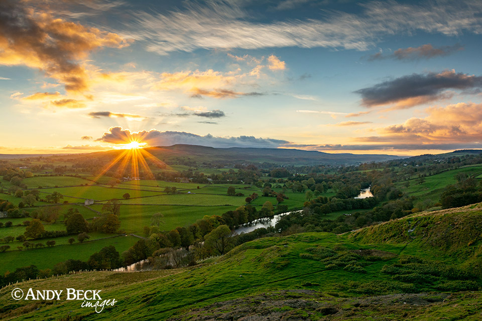 Teesdale sunset from Whistle Crag