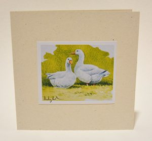 Two geese card