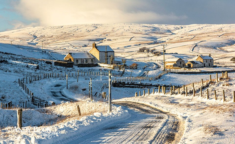 Upper Teesdale snow near Harwood