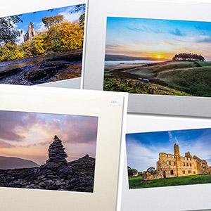 Photographic prints mounted