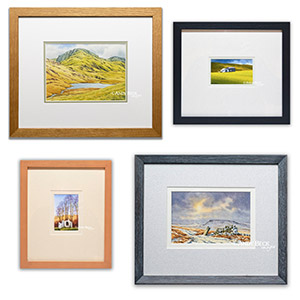 Small sketches framed