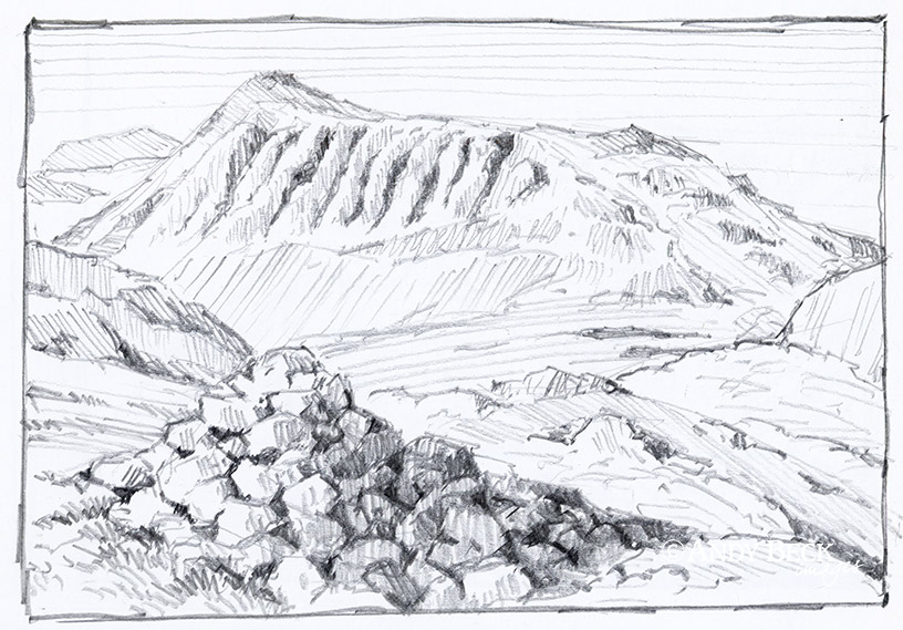 Bow Fell sketch