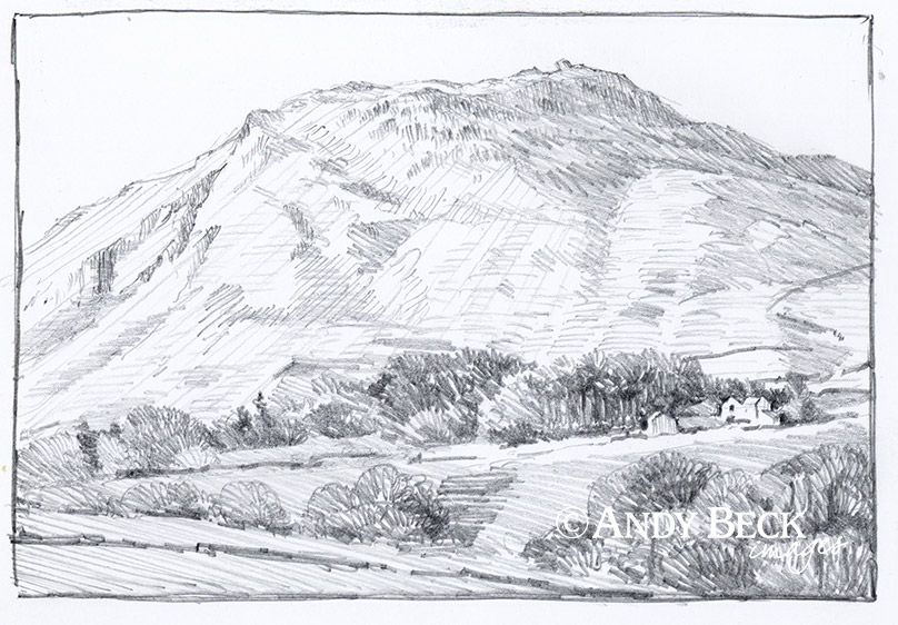 Helm Crag sketch