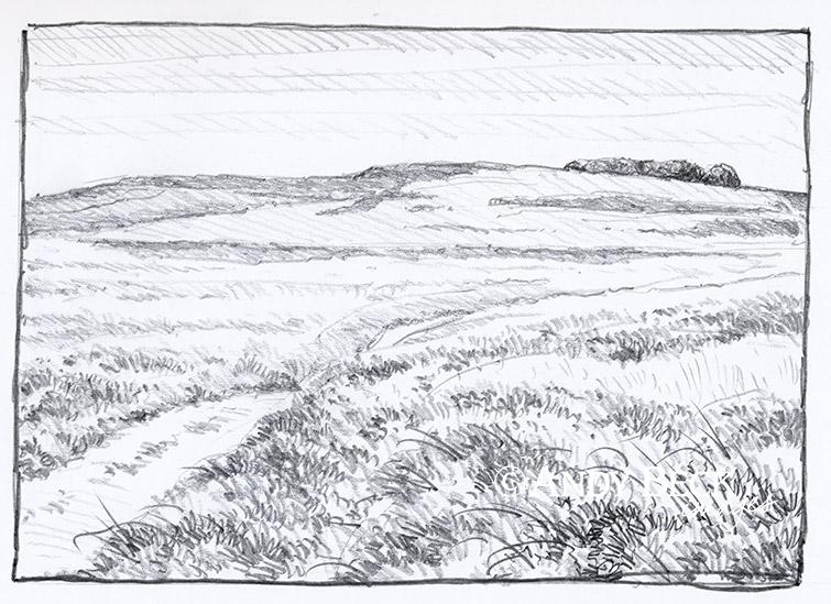 Heughscar Hill sketch