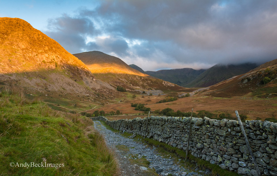 First sun in the kentmere Valley
