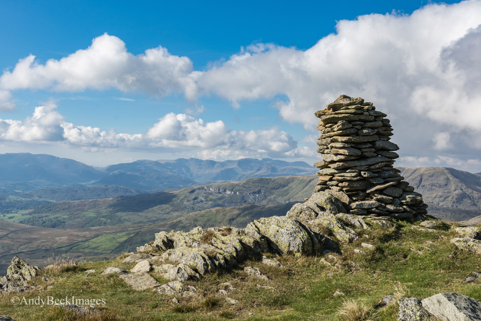 Ill Bell summit and the distant fells