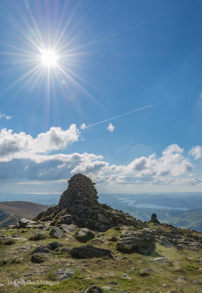 Ill Bell summit with Windermere in the distance