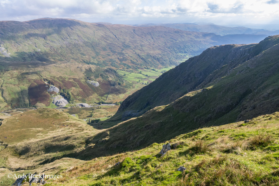 Kentmere Valley from north of Yoke with Rainsbarrow egde in profile