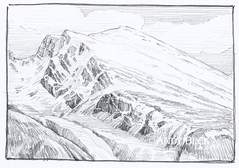 Scafell sketch