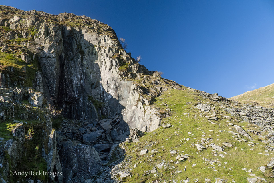 The old slate quarry, Rainsborrow Crag.