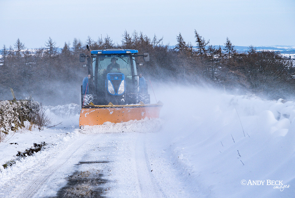 Snow clearing Teesdale
