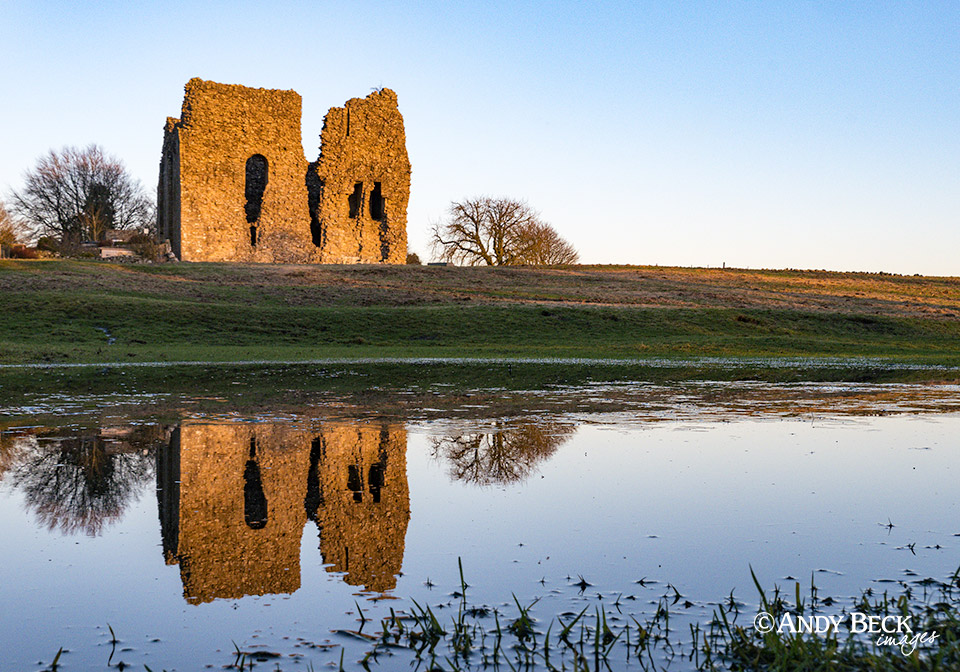 Bowes Castle reflected