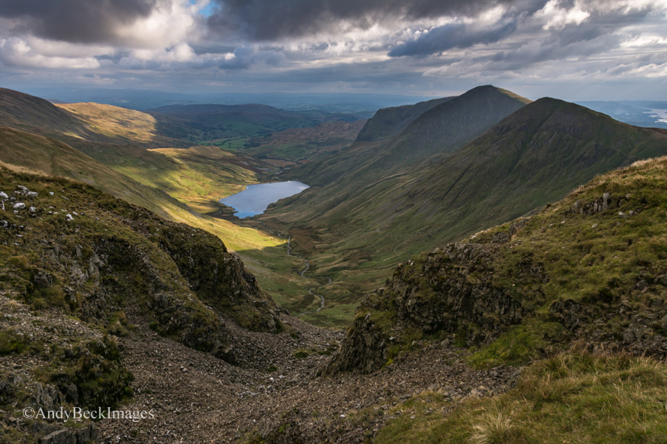 Upper Kentmere Valley from Gavel Crag