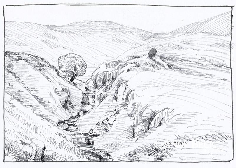 Walna Scar sketch