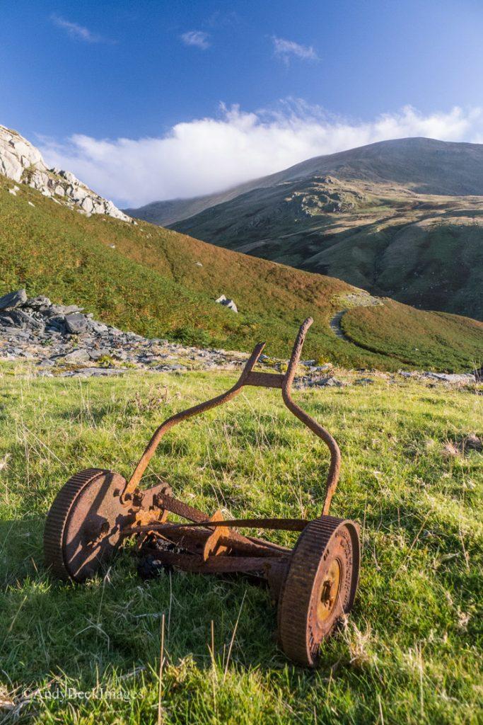 Old lawn mower, Rainsbarrow Quarry