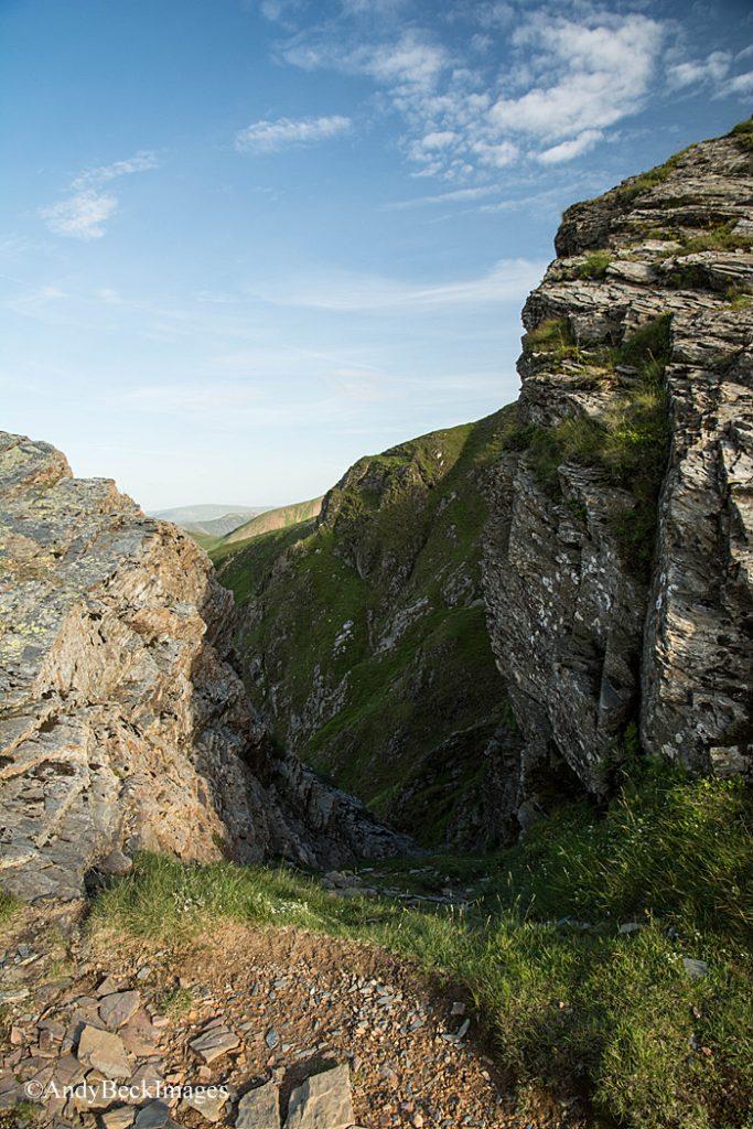 Hobcarton Crag notch