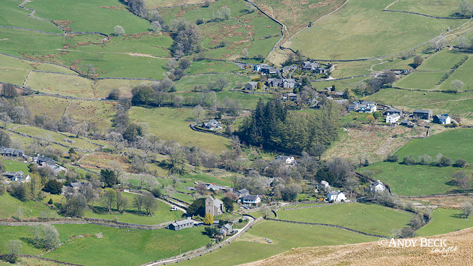 Kentmere village from Sallows