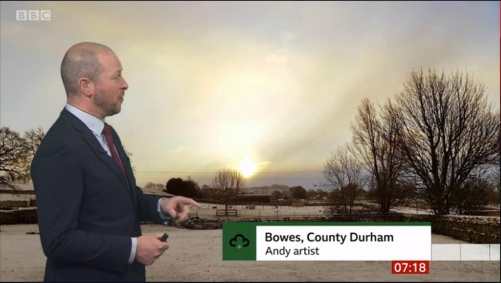 a bit of fame on the weather news :)
