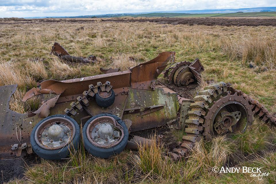 Tank wreck Cotherstone Moor
