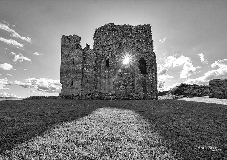 Bowes Castle sunlight