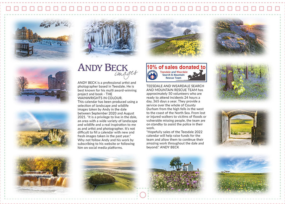 Teesdale 2022 back cover