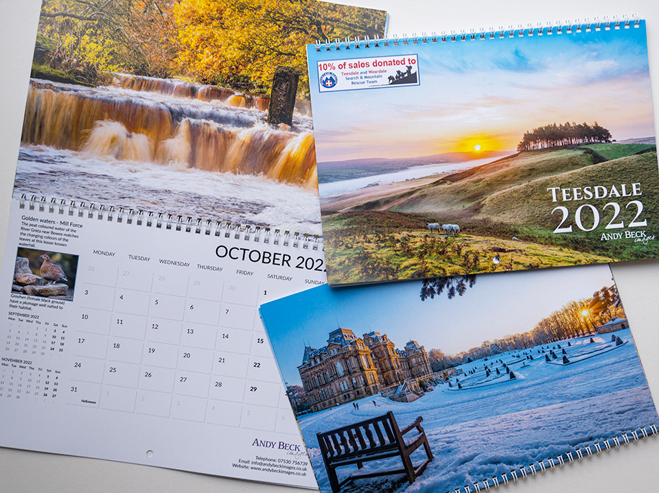 Teesdale 2022 Calendar Andy Beck Images
