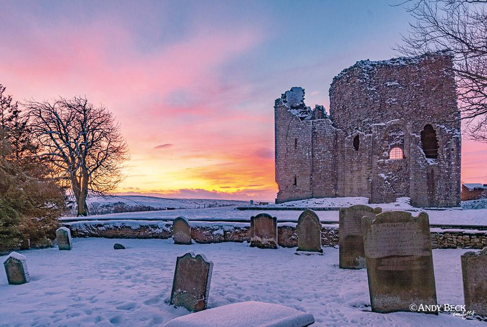 Teesdale calendar 2022 Bowes Castle
